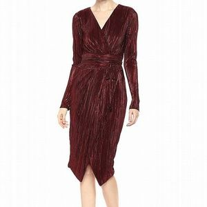 RACHEL Rachel Roy Pleated Faux-Wrap Dress